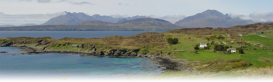 View of the Cuillin Mountains from Sleat, Skye