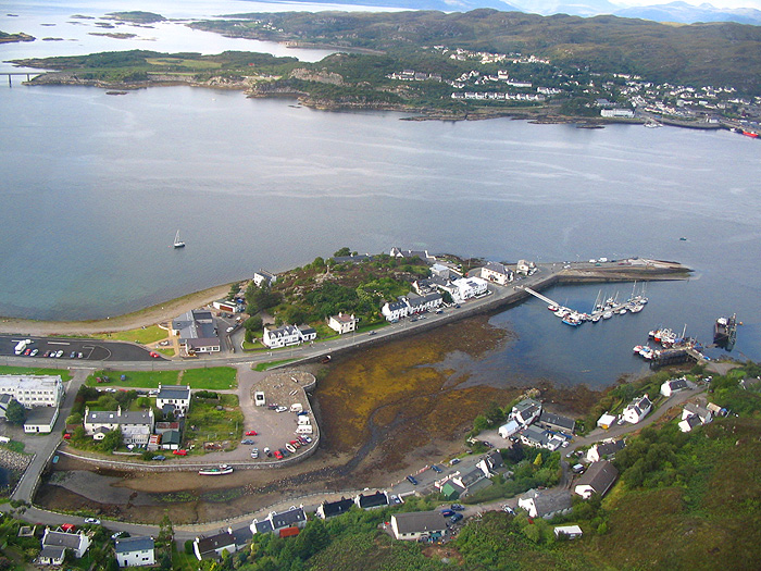 Aerial view of Kyleakin & Kyle, Skye