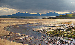 view from Sand Bay, Applecross, to Isle of Skye