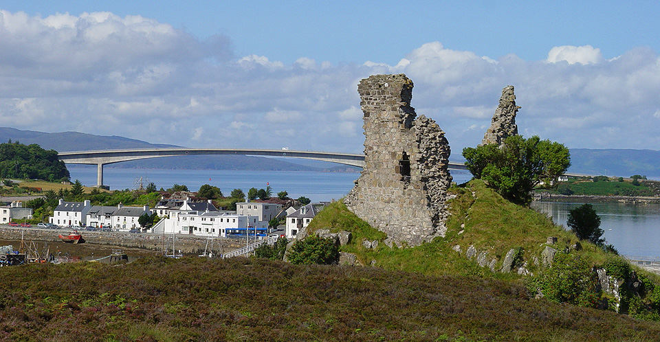 View from Castle Moil to the Skye Bridge